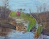 Fabien Boitard - la grenouille 2009 huile sur toile 110x150 cm